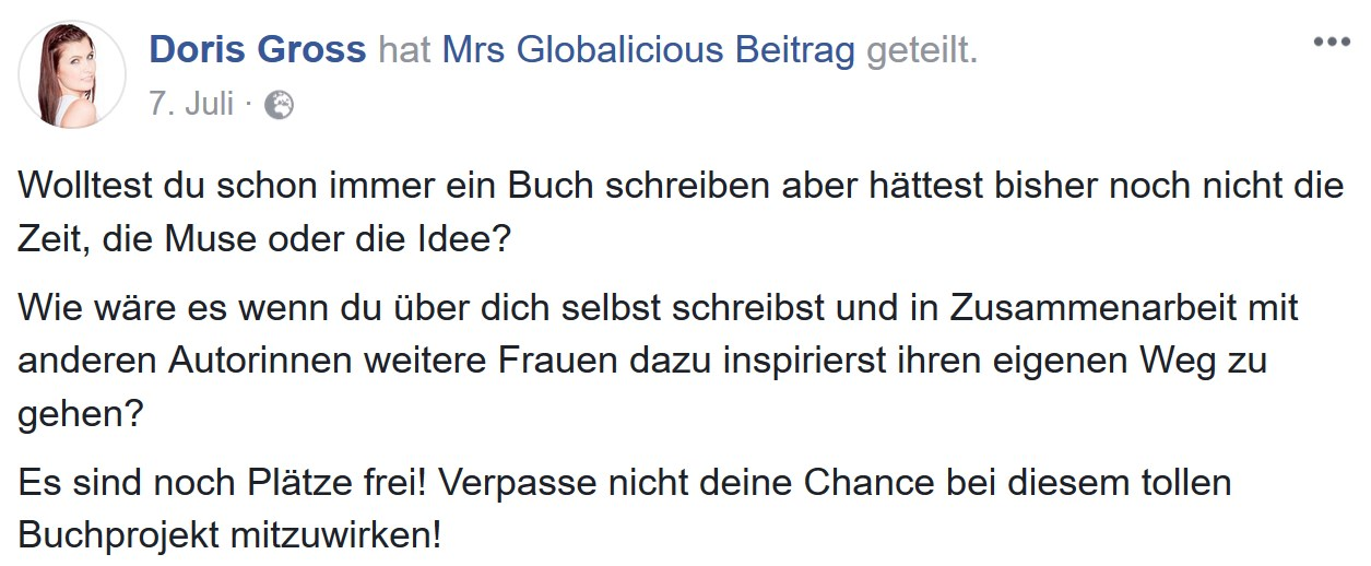 Doris Gross - Autorin Los Angeles Buch Buchautorin MrsGlobalicious Fempress Media - Wie hast du das gemacht